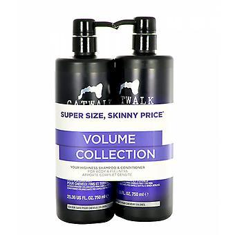 TIGI Catwalk haar Volume 750ml Shampoo + Conditioner 750ml