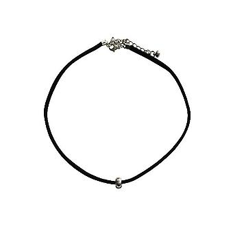 Minimalist statement choker necklace with silver stud