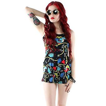 Iron Fist Womens Playsuit Romper Onesie Calico Jack Nautical Mermaids