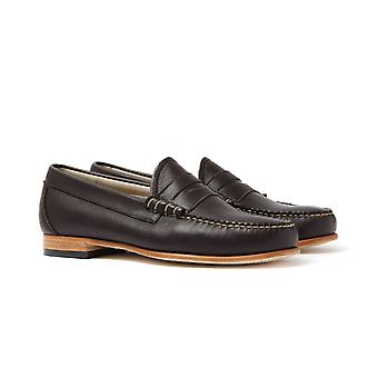 Bass Larson Dark Brown Leather Loafers