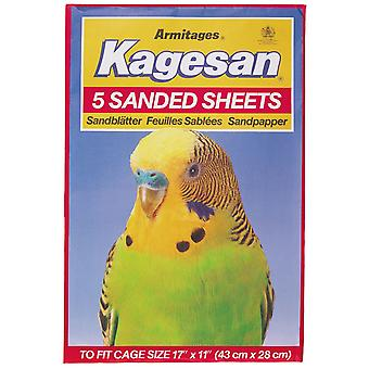 Kagesan Sanded Sheets No6 43x27cm 5 Sheets (Pack of 12)