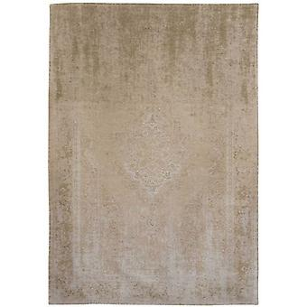 Distressed Beige Cream Medallion Flatweave Rug 230 x 330 - Louis de Poortere