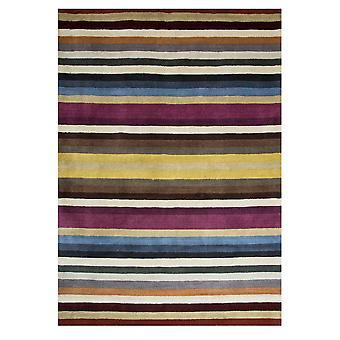 Multi stribe moderne uld tæppe Cavoni