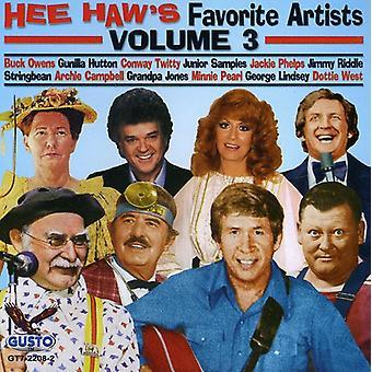 Hee Haw Favorites - Vol. 3-Hee Haw Favorites [CD] USA import