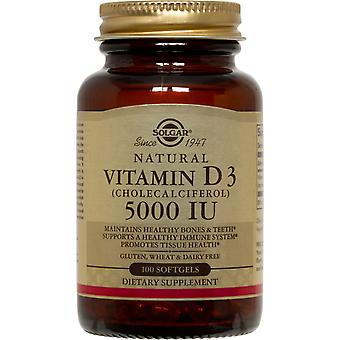 Solgar Vitamin D3 (Cholecalciferol) 5000 IU Softgels 100ct