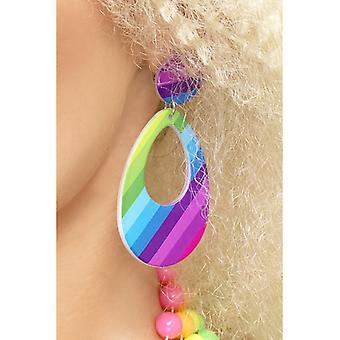 Tears earrings, neon