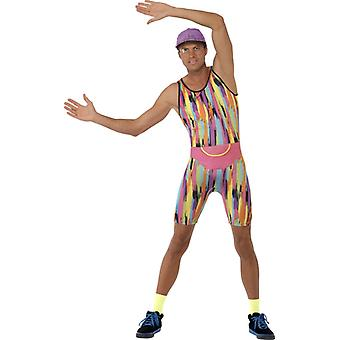 Aerobics suit mens 80's gay rainbow CSD Gay skin tight costume