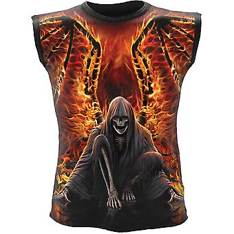 Spiral - FLAMING DEATH - All Over Print Sleeveless Muscle Top .