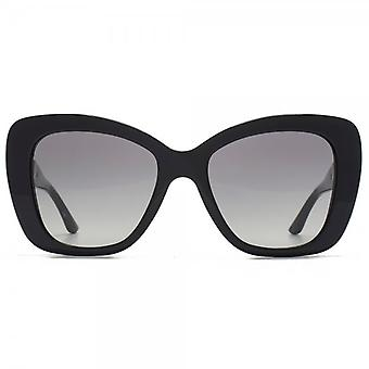 Versace Medusa Logo Flared Sunglasses In Black