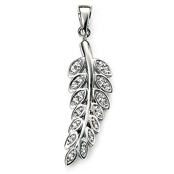925 Silver Rhodium Plated And Zirconium Necklace Trend