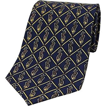 David Van Hagen Golf Silk Tie - Navy