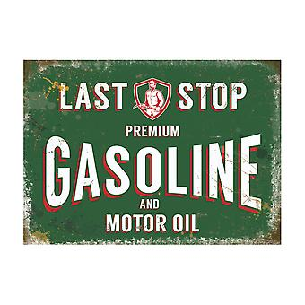 Original Metal Sign Co Large Gasoline 30 x 40cm