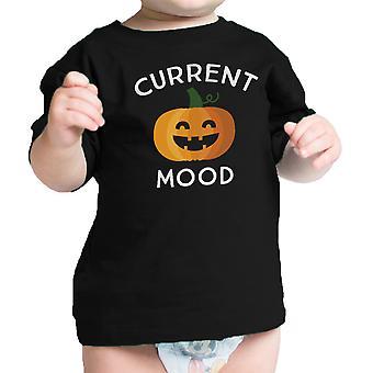 Zucca attuale stato d'animo bambino sveglio Graphic Tee nero bambino della zucca camicia