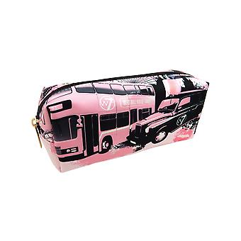 W7 London Scene Print Small Plush Cosmetic & Make Up Bag