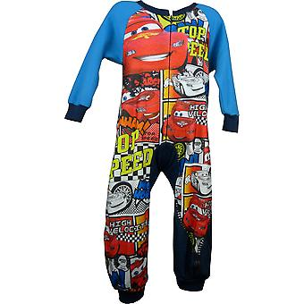 Boys Disney Cars Lightning McQueen Fleece Sleepwalker / Sleepsuit with Socks in Box