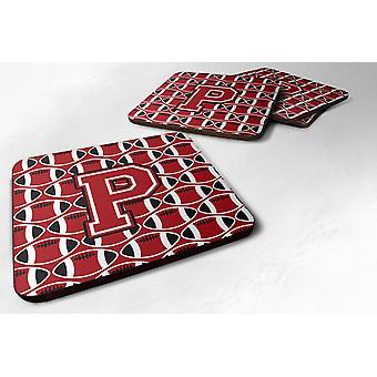 Zestaw 4 litery P piłki nożnej czerwone, czarno-białe pianki podstawki 4 szt.