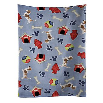 Carolines Treasures  BB3902KTWL Basset Hound Dog House Collection Kitchen Towel