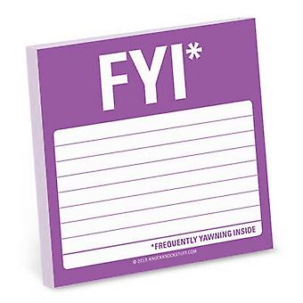 FYI Sticky Note by Knock Knock