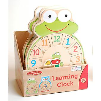 Traditionelle Holz ' n ' Fun-Learning Clock