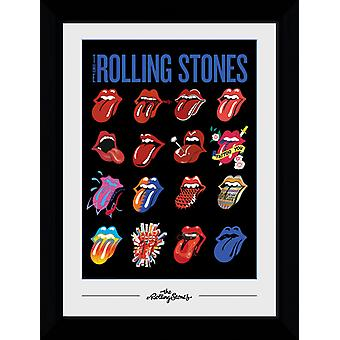 Rolling Stones Tongues Collector Print 50x100cm