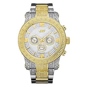 JBW diamond men's stainless steel watch LYNX - gold / silver