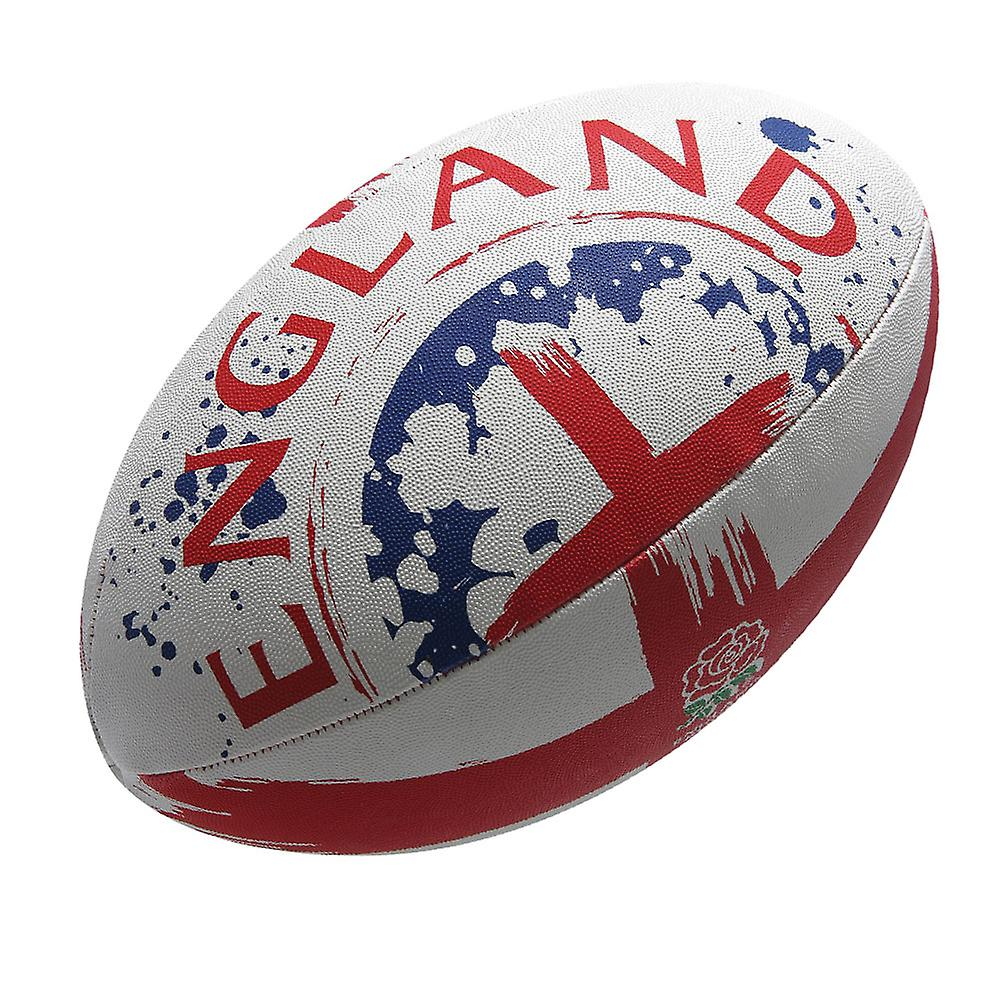 GILBERT england flag rugby ball [white/red]
