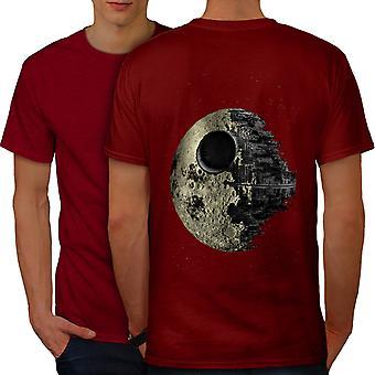 Death Galaxy Ship Men RedT-shirt Back | Wellcoda