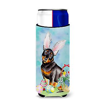 Lancashire Heeler Easter Bunny Michelob Ultra Hugger for slim cans
