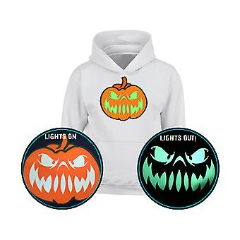Grinning Jack Halloween Pumpkin GLOW IN THE DARK Kids Hoodie 10 Colours (S-XL) by swagwear