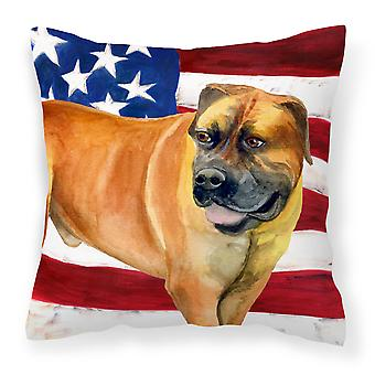 Boerboel Mastiff Patriotic Fabric Decorative Pillow