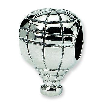 Sterling Silver Polished Antique finish Reflections Hot Air Balloon Bead Charm