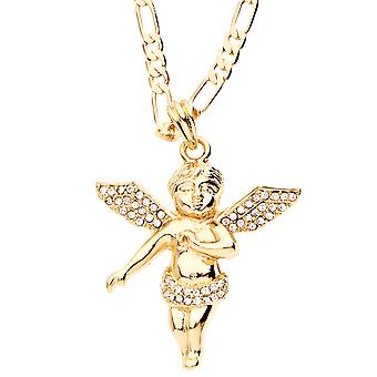 Iced out bling fashion chain - FLYING ANGEL gold