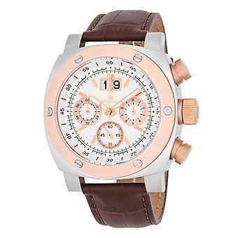Burgmeister BM348-315 South Bend, Gents watch, Analogue display, Chronograph with Citizen Movement - Water resistant, Stylish leather strap, Classic men's watch