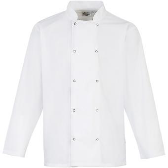 Premier Mens Studded Front Long Sleeve Chefs Jacket