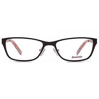 Accessorize Rectangle Flat Sheet Glasses In Purple