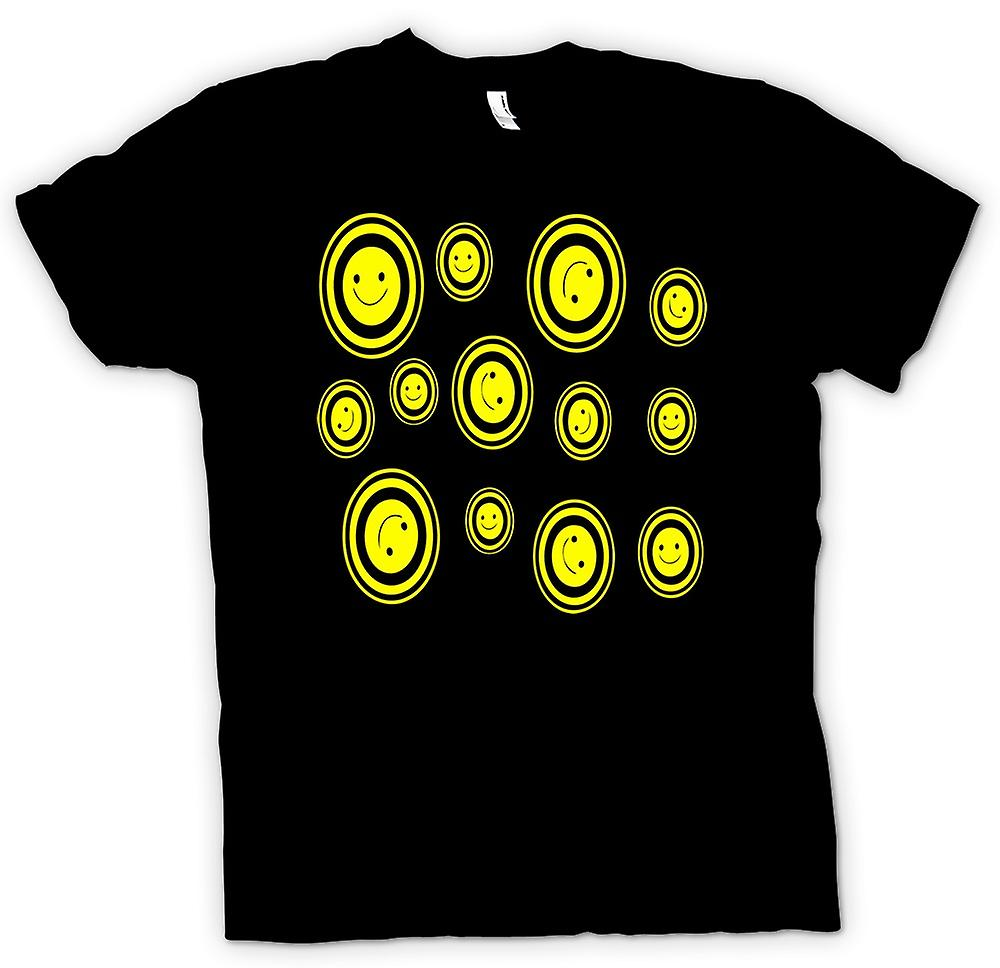 Mens T-shirt - Many Smiley Faces - Pop Art
