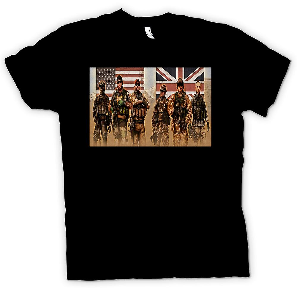Womens T-shirt - US and UK Special Forces. SAS and Delta