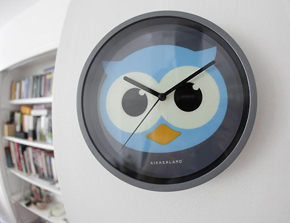 Owl Wall Clock - Glow in the Dark Eyes