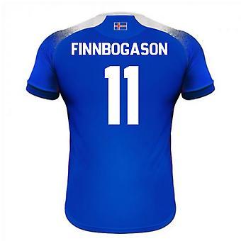 Maillot de foot domicile Errea 2018-2019 Islande (Finnbogason 11)