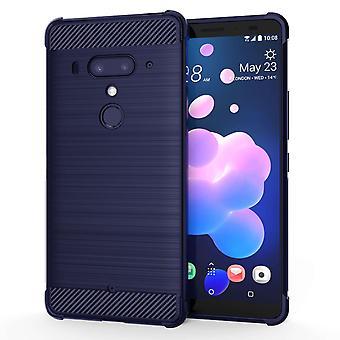 HTC-U12-Kohle Anti-Herbst TPU Case - blau