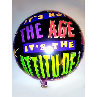 Foil Balloon - It's not the age it's the attitude