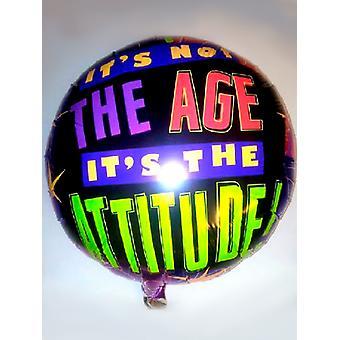Palloncino foil - non è l'età che è l'atteggiamento