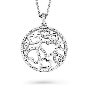 Orphelia Silver 925 Pendant With Chain 42+3 Cm Zirconium  ZH-7217