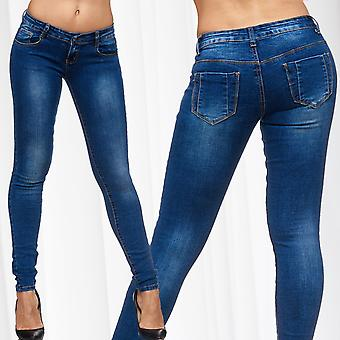 Ladies Jeans Sexy Pants Jeggings Stretch Skinny Tube Ornamental Bags Basic