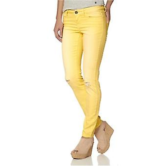 AjC skinny jeans for women short size summer yellow