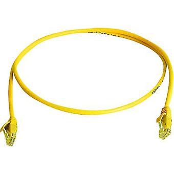RJ45 Redes Cable CAT 6 U/UTP 0.5 m amarillo ignífugo, libre de halógenos Telegärtner