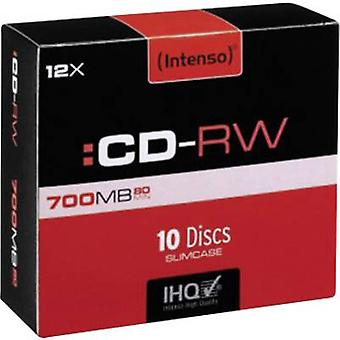 Blank CD-RW 700 MB Intenso 2801622 10 pc(s) Slim case Rewritable