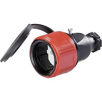 PCE 180616048 Safety mains socket Rubber 230 V Black IP44