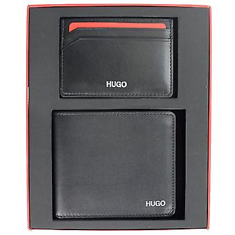 Hugo Boss Red  Leather Black Wallet With Cardholder