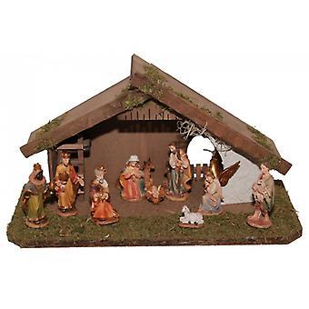 Krippe JOSEPH Holzkrippe Weihnachtskrippe Weihnachten Krippenstall